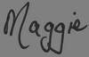 Maggie Signature Transparent 100 x 64px